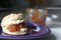 Biscuits and jam, so good. In this case, melon jam.