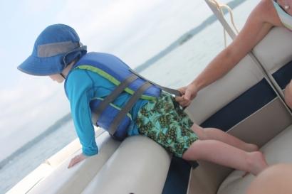 Keeping Walker on the boat