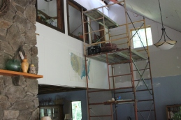 Scaffolding in the living room