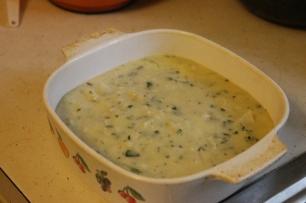 Squash casserole (pre bread crumbs)