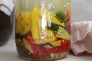 Fermenting peppers