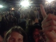 An attempted selfie with the crowd in the rear.