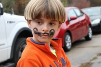 Owen's face paint.